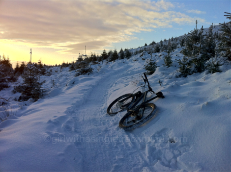 Snowy trails at Glentress
