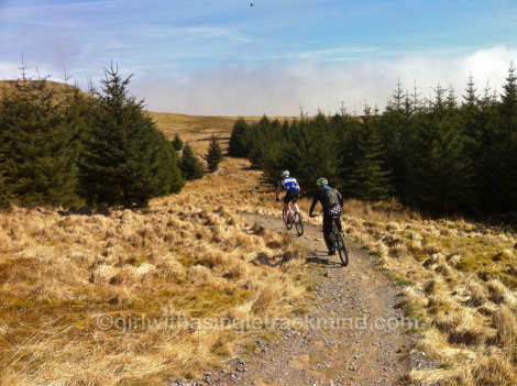 Riding towards Whelpstone Crag.