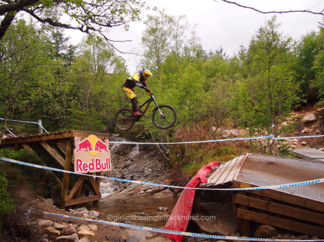 River gap, Fort William Downhill Mountain Bike World Cup