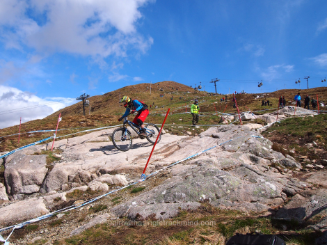 Downhill mountain bike course - Fort William, Nevis Range