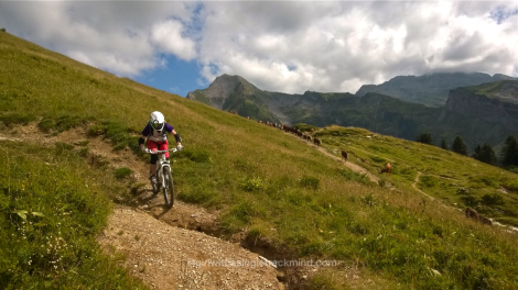 Mountain biking in the Alps