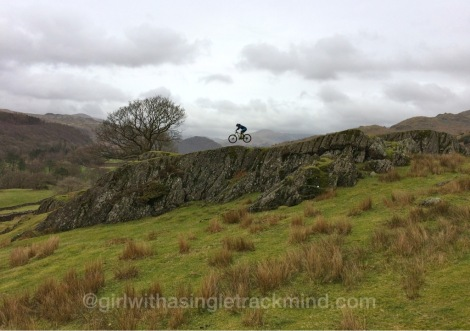 Rocky crags on Dunnerdale Fells