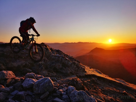 mountain biking sunrise