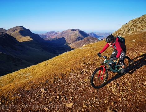 Mountain bike descent, the Lake District